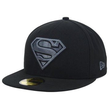 DC Comics Superman Hero Black Gray Basic 59FIFTY Cap