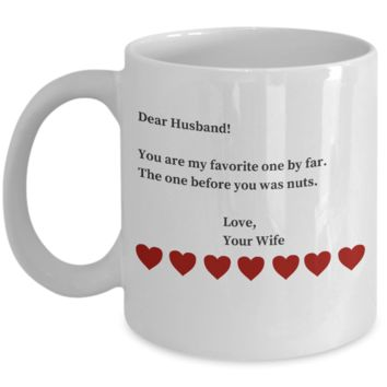 1 Year Anniversary Gifts For Husband - Sarcastic Valentines Day Gifts For Hubby - Funny Coffe Cup Gift San Valentin to Make Him LOL for Hours