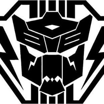 Autobot Transformer Lightning Vinyl Car Decal