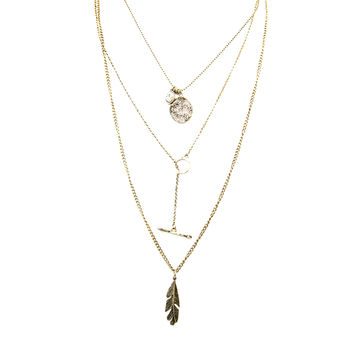 Tempest Layered Gold Necklace