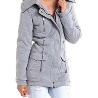 Cinch-Waist Knit Anorak Jacket: Charlotte Russe