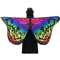 Butterfly Wing Pashmina Women Scarves Beach Towel Printed Bath Towel Butterfly Print Yoga Sand Towel Mat 146*65cm