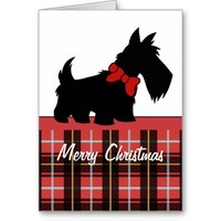 Holiday Home Scottish Terrier Christmas Card
