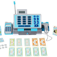 Just Like Home Talking Cash Register - Blue