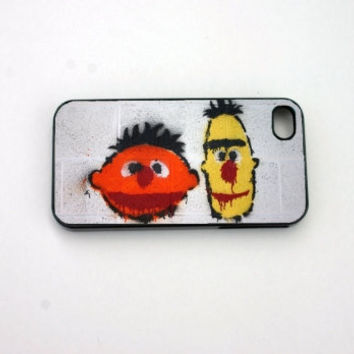 iphone 5 Case, iphone 4 Case, iphone 4s Case, Bert and Ernie iphone 5 Case Orange iphone 4 Case Cover