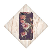 Geometric Diamond x Roses Case for iPhone 5 iPhone 5S iPhone 4 iPhone 4S and Samsung Galaxy S5 S4 & S3