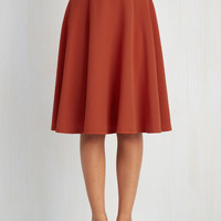 A-line Bugle Joy Skirt in Rust