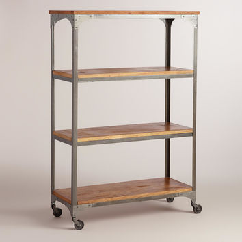 Wood and Metal Aiden Bookcase - World Market