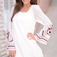 Feeling Groovy Dress, Ivory