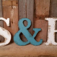"Rustic shabby chic 9.5"" Letters CHOOSE your own letters, A B C D E F G H I J K L M N O P Q R S T U V W X Y Z Large letters jumbo letter huge"