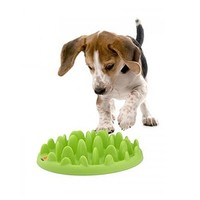Green Mini Interactive Slow Feeder at barker & meowsky a paw firm since 1998 carries dog clothes, dog accessories, dog carriers, dog collars, dog toys, dog beds and dog treats