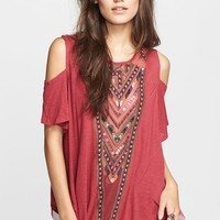 Women's Free People Embroidered Mesh Top