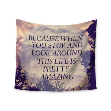 "Rachel Burbee ""Pretty Amazing"" Tan Sky Wall Tapestry"