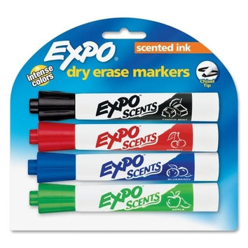 sanford ink corporation scented whiteboard marker,chisel,4/st,chocmint/chr/apple/bry Case of 4