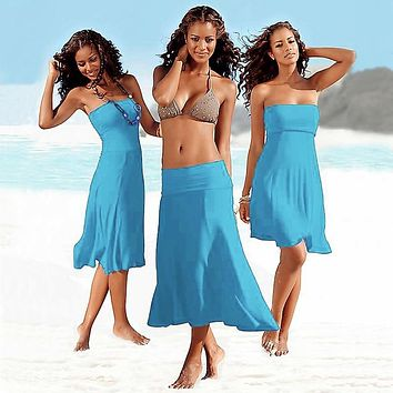 SWIMMART Matches Bikini Cover-up Multi Wears Beach Cover Up Dress Matches Bikini Worldwide Women Beach Wear Convertible Infinite