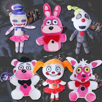 Plush Toy  At  Sister Location Circus Baby Ballora Foxy Freddy Ennard Funtime Plush Doll decoration Toy