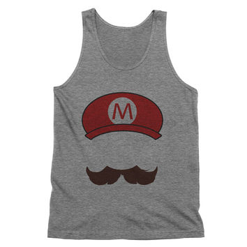 Mario Mustache and Hat Tank Top