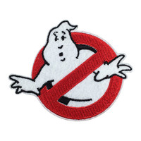 "Ghostbusters logo ""No Ghost"" patch Individuality Patch Embroidered Movie Iron On Sew On Patches"