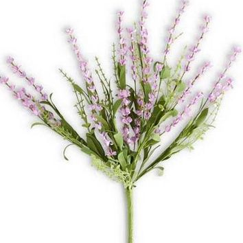 "Artificial Lavender Bush in Purple - 19"" Tall"