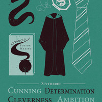 Slytherin- Harry Potter Minimalist Art Print by AbbieImagine | Society6
