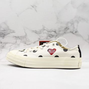 CDG Play x Converse All Star Chuck Taylor 1970s Low-Top Sneakers