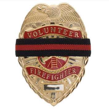 Fire Department Firefighter Search & Rescue Mourning Band for Badges Thin Red Line