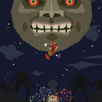 Majora's Mask Art Print by Phil Giarrusso
