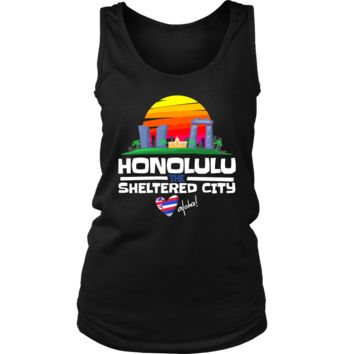 Honolulu The Sheltered City Love Hawaii Country Women's Tank