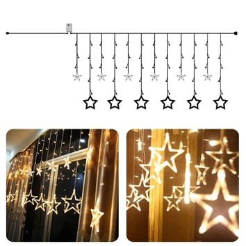 2M 138 LED star string Fairy Lights for wedding decorations Home outdoor christmas tree decorations christmas lights indoor