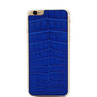 Cobalt Crocodile Iphone 6 Leather Back by Valentine Goods - Moda Operandi