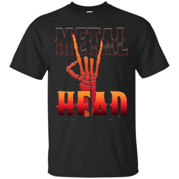 Metalhead Heavy Metal Skeleton Hand TShirt Hoodie Rocker Gift