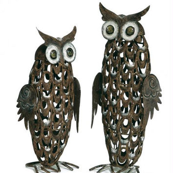 2 Owl Sculptures - Inside And Outside Use