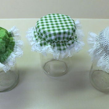 3 Green St. Patrick's Day Variety Pack Canning Jar Bonnets