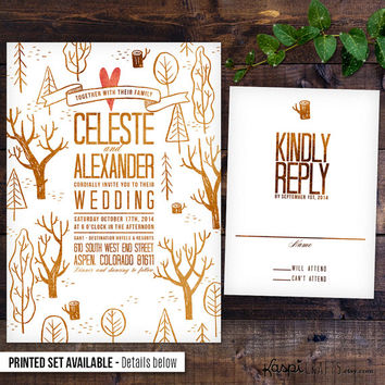 Mountain wedding invitation, printable wedding invitation, printed invitation, DIY wedding, destination wedding