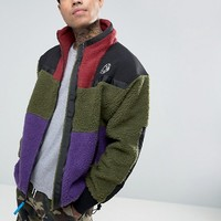 Billionaire Boys Club Sherpa Fleece Zip Through Jacket at asos.com