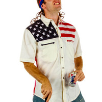 American Flag All-Time Short Sleeve Leisure Shirt