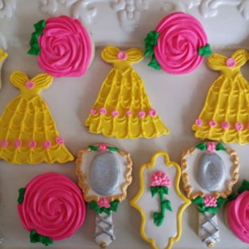 12 - beauty and the beast cookies