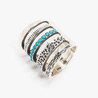 Single Turquoise Cage Ring