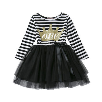 Winter Infant Dress Princess Long Sleeve Casual Tutu Dress for Newborn Girl Dress 1 2 years Birthday Gift Party Girl Clothes