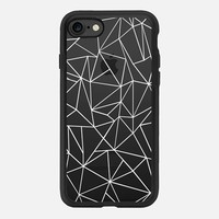 iPhone 7 Case (New Black), Abstraction Outline White Transparent by Project M | Casetify (iPhone 6s 6 Plus SE 5s 5c & more)
