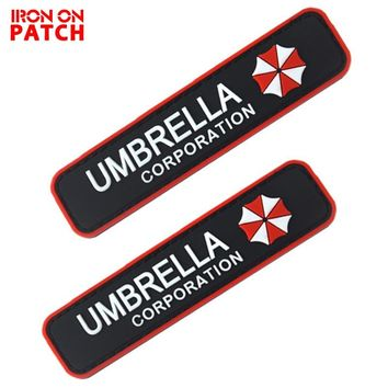 PVC Umbrella Corporation Tactical Morale Patch Hook& Loop Resident Evil Series Badges DIY For Bag Backpack Military PATCH