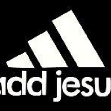 Add Jesus Vinyl Car Decal