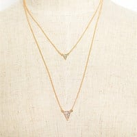 Dainty Triangle Layered Necklace