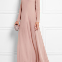 Valentino - Silk-georgette turtleneck maxi dress