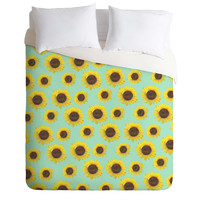 Allyson Johnson Sunflower Pattern Duvet Cover