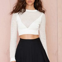 Nasty Gal Cosette Crop Sweater