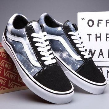 VLXZRBC Trendsetter VANS Canvas Old Skool Galaxy Print Flats Sneakers Sport Shoes
