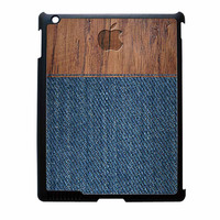 Wood Faux Denim Case iPad 4 Case
