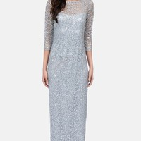 Kay Unger Sequin Lace Gown