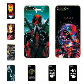 Charming Deadpool Spiderman Case Coque For Huawei Y6 2018 Soft TPU Phone Cases For Fundas HuaweiY6 2018 Back Cover Capa